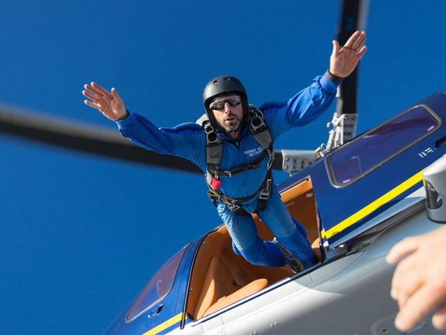 Sergey Brin does various acrobatic things.