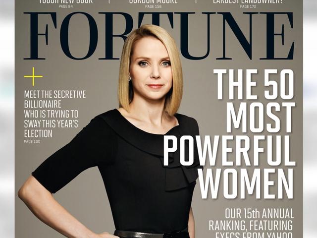 Người đàn bà quyền lực Marissa Mayer của Yahoo.