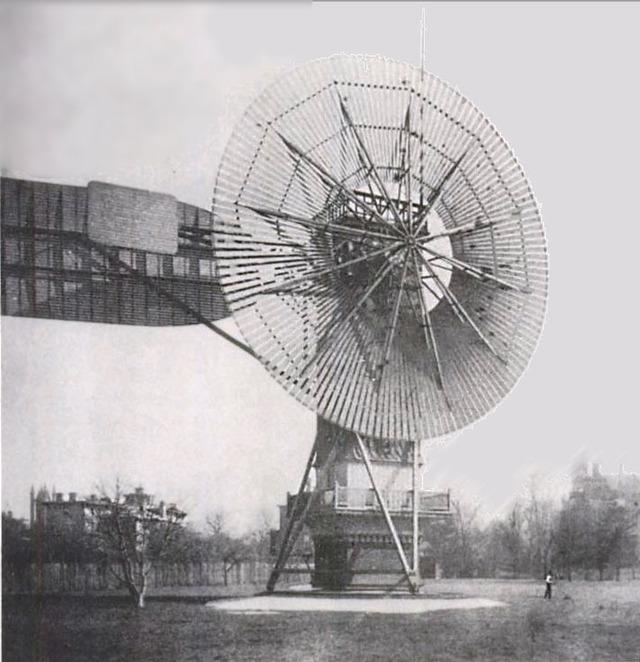 Chiếc máy phát điện từ sức gió đầu tiên trên thế giới.
