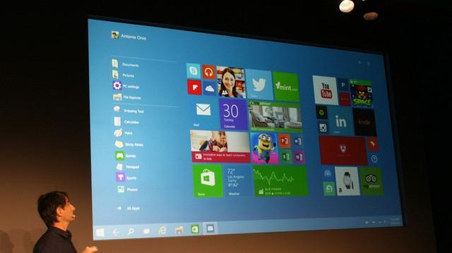 Những hình ảnh về Windows 10
