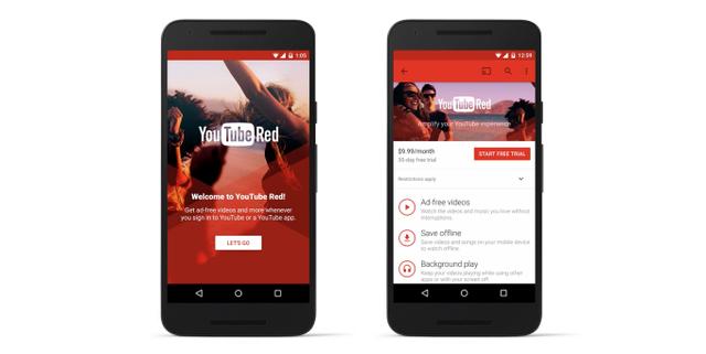 YouTube Red là dịch vụ trả phí, cho phép loại bỏ tất cả các quảng cáo trong video.