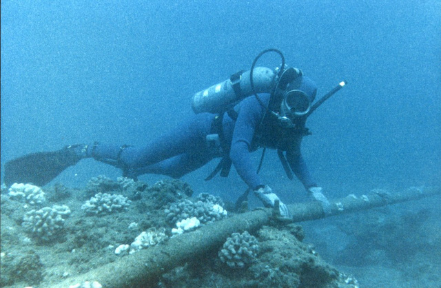 Tàu đánh cá là tác nhân gây hại lớn đối với cáp biển. Trong các vùng nước nông, ngư cụ và neo tàu có thể gây đứt cáp. Các nhà sản xuất phải cải tiến cáp biển ở vùng này với một lớp thép mạ kẽm cùng với vỏ nhựa.