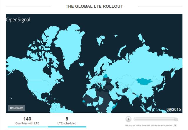 Bản đồ phủ sóng mạng 4G.