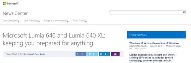Ảnh chụp màn hình tiêu đều bài viết được đăng trên trang web của Microsoft (hiện đã được gỡ bỏ).