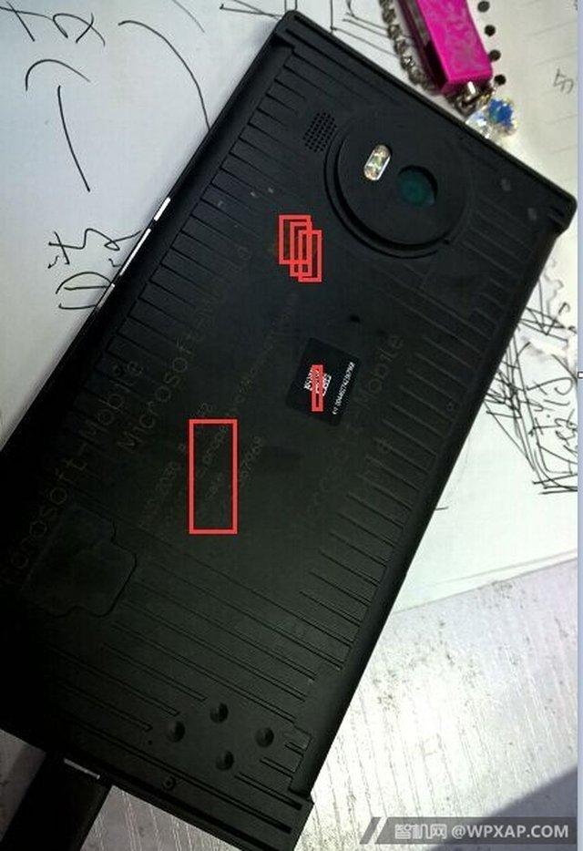 Mặt lưng nguyên mẫu Lumia 950 XL