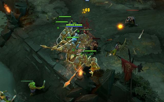 Lượng bóng lớn ngay từ level 6 cho phép Phantom Lancer farm và đẩy trụ nhanh hơn