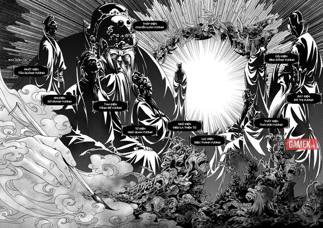 Thập Điện Diêm Vương được vẽ khá ấn tượng