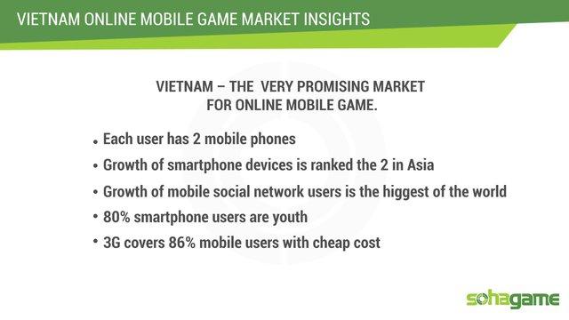 Những con số cho thấy một thị trường game mobile đầy tiềm năng.