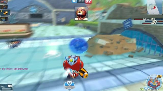 Người chơi sẽ phải đập vỡ bong bóng của đối thủ sau khi bắn gục