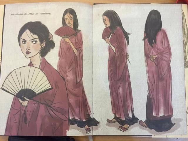 Tạo hình của nữ sát thủ Lê Nhật Lan trong truyện