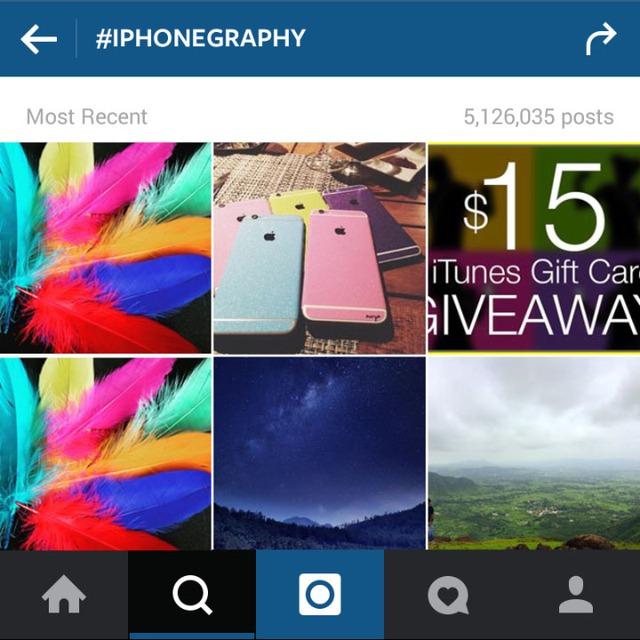 Trong khi Hashtag iPhonegraphy đạt hơn 5 triệu.