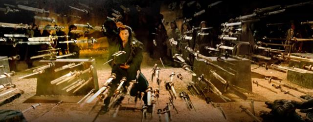 Hà Gia Kính từng vào vai nhân vật Võ Lâm Thần Thoại Vô Danh trong phim Phong Vân, người sáng tạo nên tuyệt học kiếm pháp Vạn Kiếm Quy Tông.