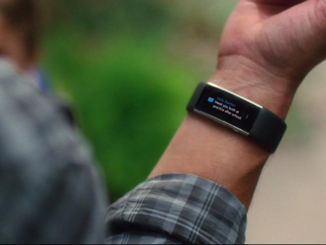 Sản phẩm vòng tay theo dõi sức khỏe Band, được Microsoft tung ra vào năm 2014 để cạnh tranh với Fitbit.