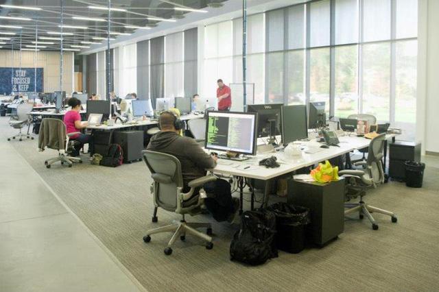 Nơi làm việc của các nhân viên