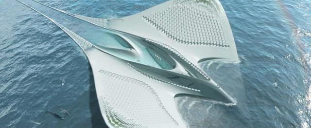 Thành phố này mô phỏng hình dạng của loài cá đuối Manta.
