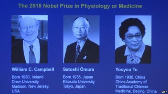 3 giáo sư đạt giải Nobel y học năm 2015