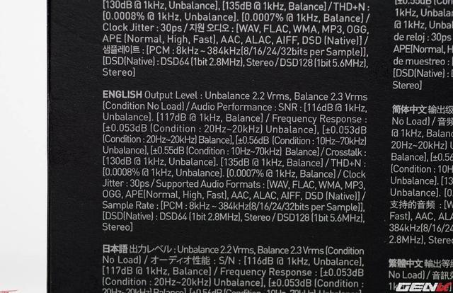 Thông số kỹ thuật tiếng Anh