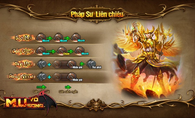 Bảng hướng dẫn tạo chuỗi combo skill của nhân vật Soul (Soul Master)