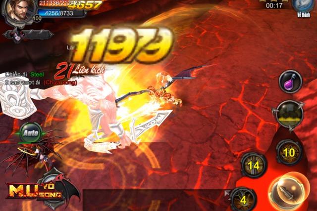 Combo trong MU Vô Song đem lại sự mới mẻ khác lạ trong gameplay chiến đấu