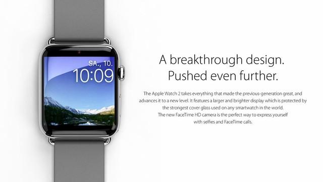Apple Watch 2 sẽ tích hợp thêm camera 1,2 Megapixel hỗ trợ cuộc gọi Facetime.