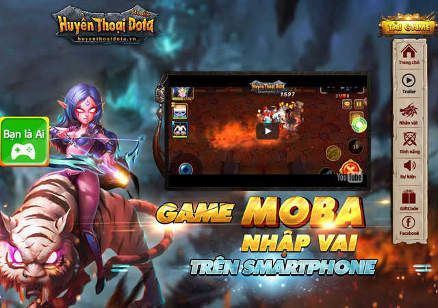 Game MOBA nhập vai trên smartphone Huyền Thoại DotA