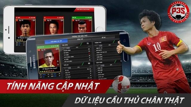 P3S Mobile sẽ cập nhật đầy đủ dàn cầu thủ Việt Nam ngay khi ra mắt game