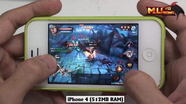 MU Vô Song vẫn có thể chơi tốt trên iPhone 4