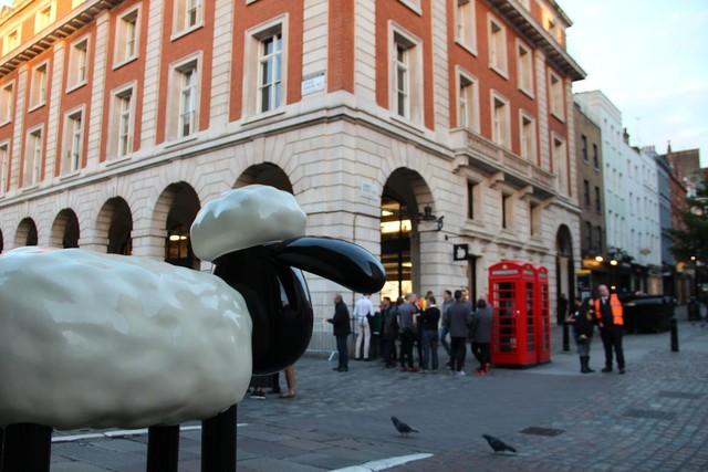 Gần cửa hàng Apple Store còn có biểu tượng một chú cừu rất nổi tiếng trong bộ phim Shaun the Sheep.