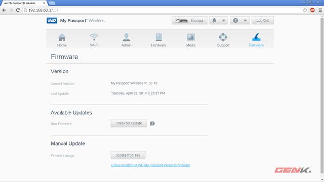 Tab Firmware - kiểm tra, update bản mới nhất cho thiết bị