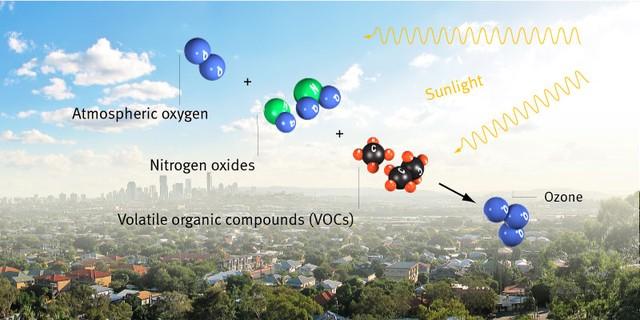Quá trình sản sinh Ozone trong môi trường đô thị.