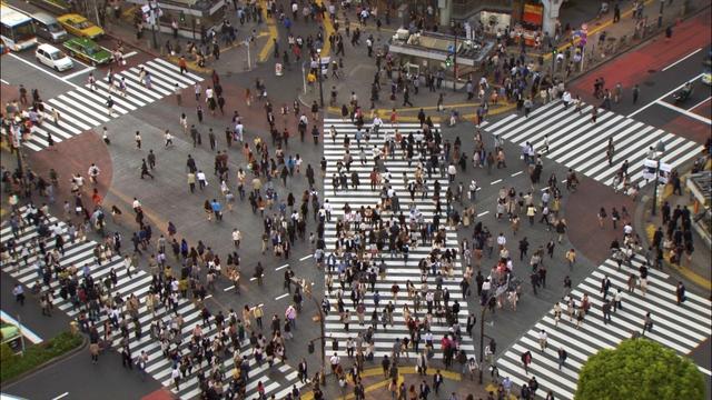 Đường phố luôn luôn đông đúc và không bao giờ thiếu người đi lại. Cảnh tượng cho thấy dân số thế giới đã và đang tăng trưởng không ngừng.