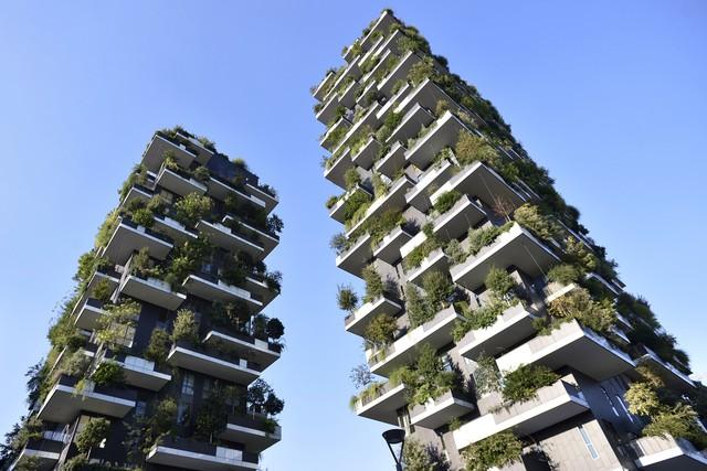 Chân dung 2 tòa tháp Bosco Verticaletại Milan.