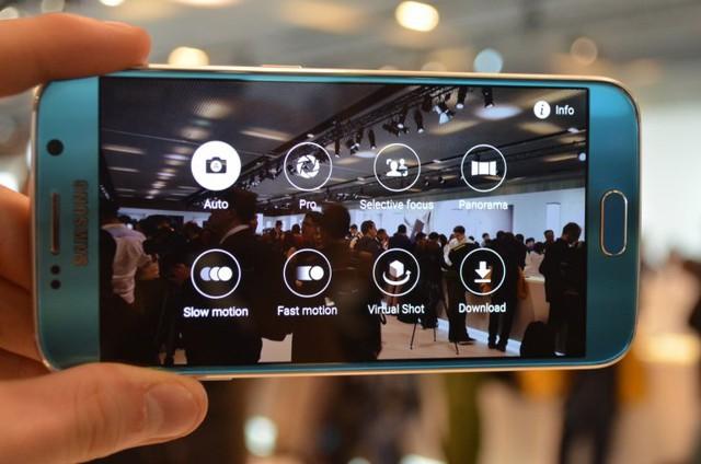 Menu tuỳ chỉnh camera trên Galaxy S6.