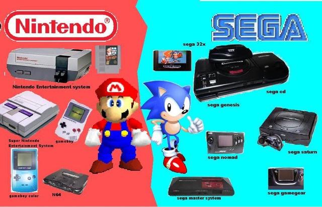 Nintendo và Sega là hai nhà sản xuất game console hàng đầu thế giới ở thập niên 80, 90