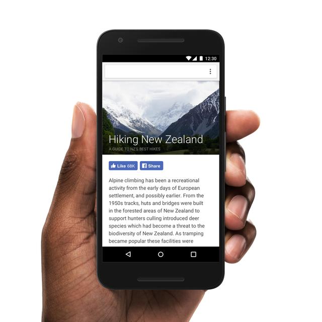 Nút Like và Share mới sắp được bổ sung thêm vào các bài viết Instant Articles