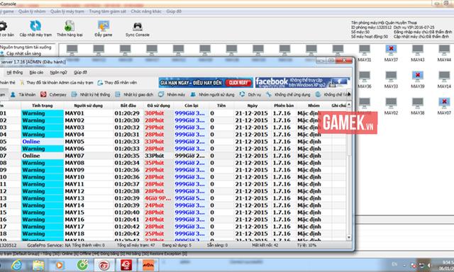 Mặc dù dùng đầy đủ các phần mềm quản lý của Gcafé...