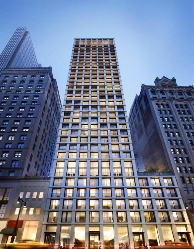 Tòa nhà 34 tầng này là tòa chung cư đầu tiên của Chipperfield tại Manhattan.