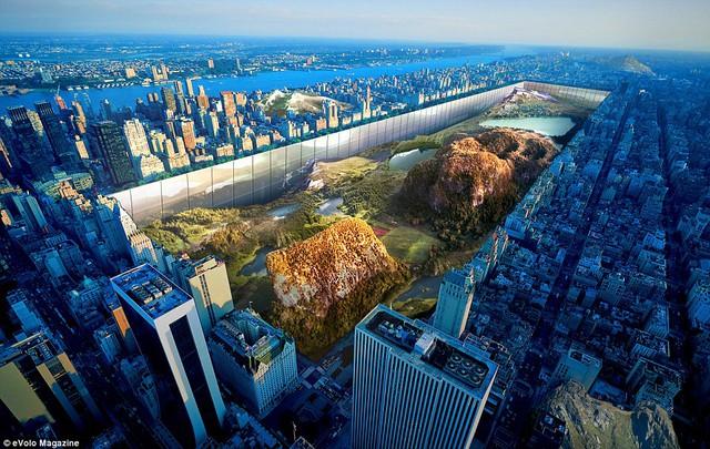 Bản thiết kế công viên trung tâm tại New York.