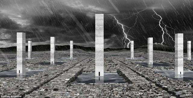 Các tòa tháp Neza York.