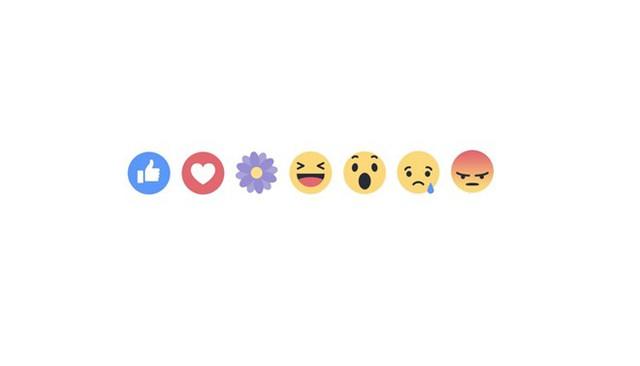 Biểu tượng cảm xúc mới bó hình Bông hoa bên cạnh 5 nút Reactions.