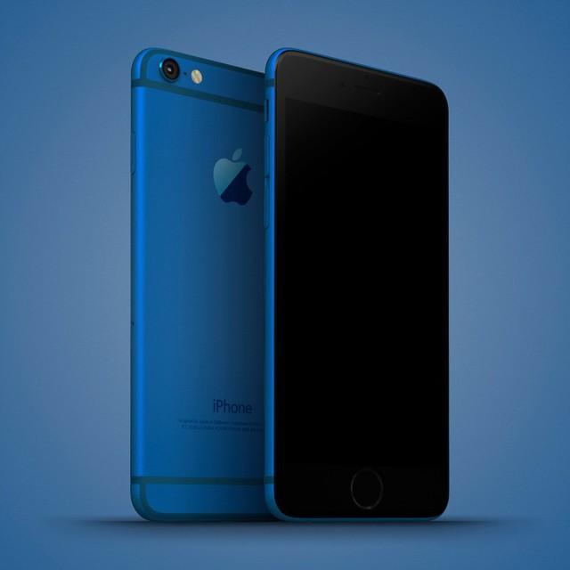 Ý tưởng iPhone 7c xanh dương rất độc đáo.