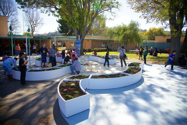 Mô hình Learning Gardens đang được áp dụng tại rất nhiều trường học.