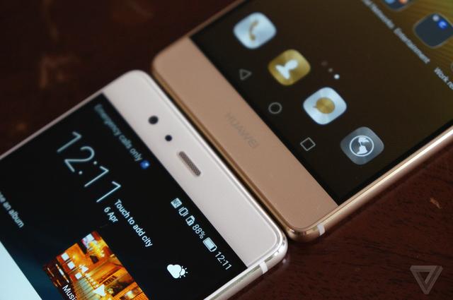 Cụm phím điều hướng của Huawei P9 được đặt trong màn hình.