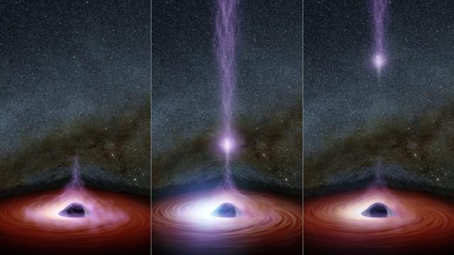 Các hố đen không chỉ nuốt mà còn phát ra năng lượng rất lớn.