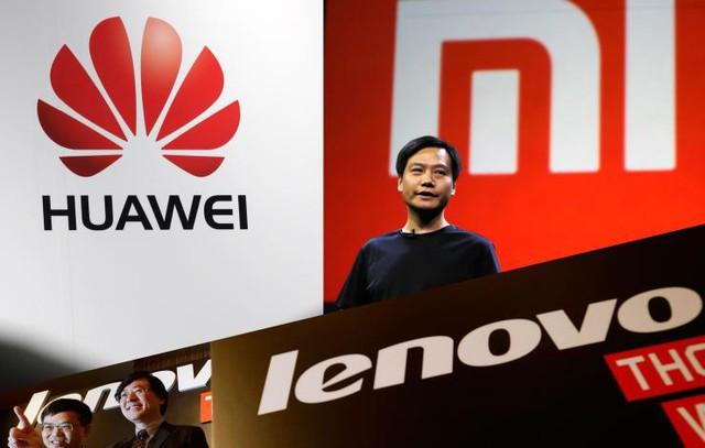 Thế chân kiềng, Huawei - Xiaomi - Lenovo tại thị trường smartphone Trung Quốc.