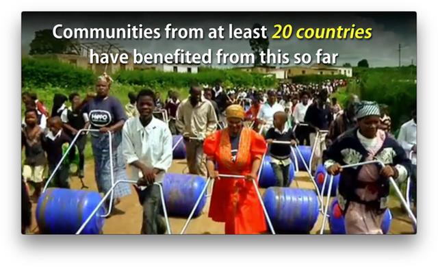20 quốc gia khác nhau trên thế giới được hưởng lợi ích từ chiếc bình chứa đơn giản này.