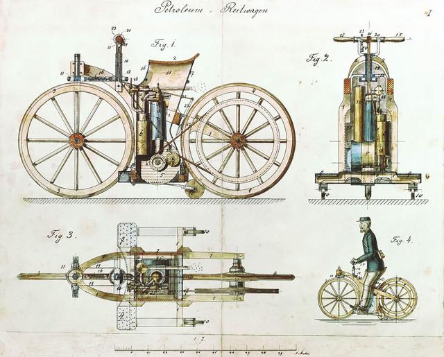 Cận cảnh chiếc xe máy đầu tiên trong lịch sử loài người, ra đời năm 1885