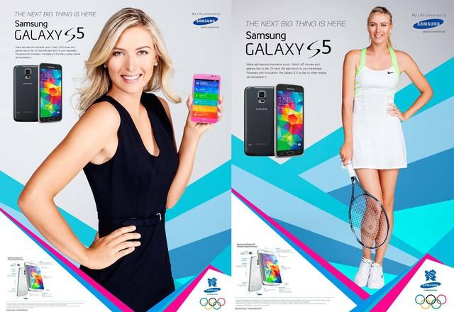 Maria Sharapova giới thiệu smartphone Samsung Galaxy S5