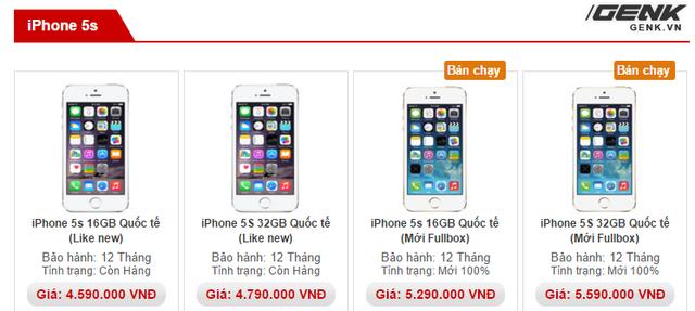 iPhone 5s có giá bán cực tốt đang xuất hiện tràn lan tại Việt Nam.