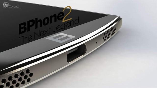 Ý tưởng Bphone 2 trang bị cổng USB Type-C.